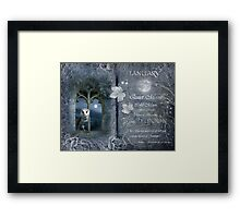 Januray : Birch Moon Framed Print