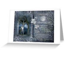 Januray : Birch Moon Greeting Card