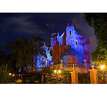 Welcome to the Haunted Mansion Photographic Print