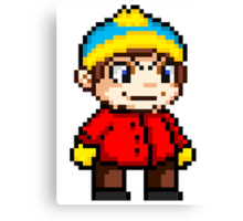 Eric Cartman Pixel Canvas Print