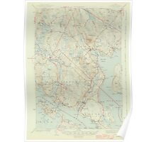 Maine USGS Historical Map Blue Hill 306477 1944 62500 Poster