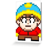 South Park Eric Cartman Mini Pixel Greeting Card