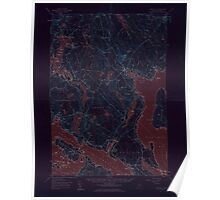 Maine USGS Historical Map Blue Hill 306478 1957 62500 Inversion Poster