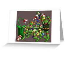 Pizza Toppings Greeting Card