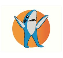Super Bowl's Left Shark! Art Print