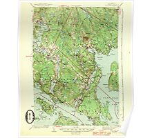 Maine USGS Historical Map Blue Hill 460215 1944 62500 Poster