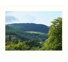 the hills by loch ness...... Art Print