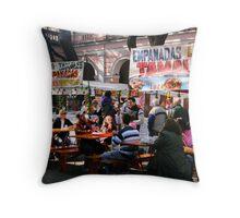 Sunday Market Throw Pillow