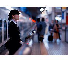 Bullet-train babe; Tokyo, Japan Photographic Print
