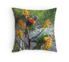 Rainbow Lorikeets Throw Pillow