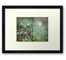 April : Alder Moon Framed Print