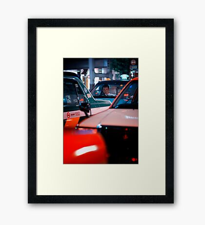 In the queue for the next customer: Shibuya Station, Tokyo Framed Print