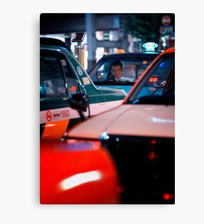 In the queue for the next customer: Shibuya Station, Tokyo Canvas Print