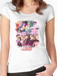 JoJo's Bizarre Adventure - Stardust Crusaders English Logo Women's Fitted Scoop T-Shirt