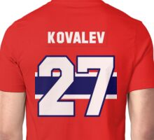 Alex Kovalev #27 - red jersey Unisex T-Shirt