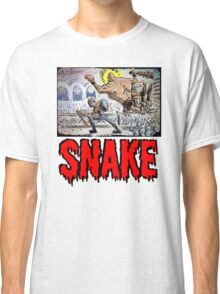 Escape From New York John Carpenter Sci Fi Dystopian Future Science Fiction movie film action illustration joe badon drawing cartoon Classic T-Shirt