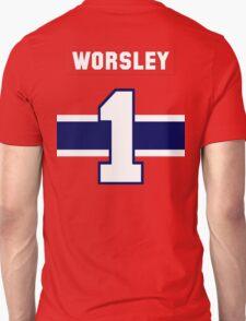 Gump Worsley #1 - red jersey T-Shirt