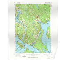 Maine USGS Historical Map Blue Hill 460218 1957 62500 Poster