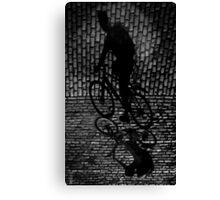 shadow cyclist Canvas Print