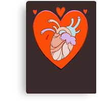 heart in heart, valentine tattoo art Canvas Print