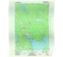 Maine USGS Historical Map Blue Hill 806525 1981 24000 Poster
