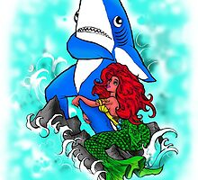 Left Shark and Mermaid by shannonritchie