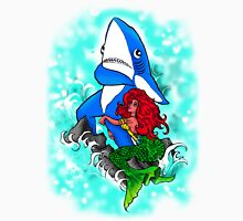 Left Shark and Mermaid Womens Fitted T-Shirt