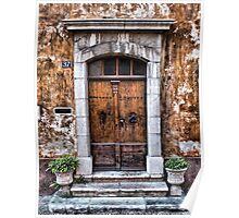 Old entrance door Poster