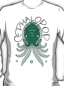 cephalopod in greens and blue T-Shirt