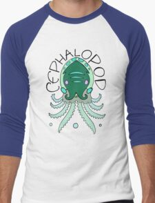 cephalopod in greens and blue Men's Baseball ¾ T-Shirt
