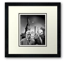Martian New Yorkers Framed Print
