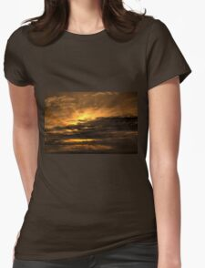 Cloudy morning Womens Fitted T-Shirt