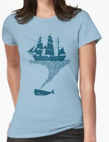 Exhaling flotsam Womens Fitted T-Shirt