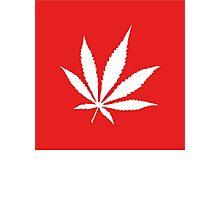 Marijuana Leaf   Lust Brick Photographic Print