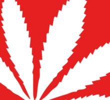 Marijuana Leaf   Lust Brick Sticker