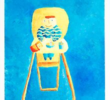 Baby in High Chair by Julie Nicholls