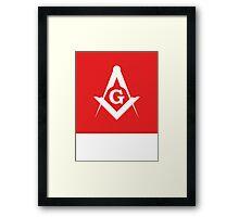 Masonic Compass   Lust Brick Framed Print
