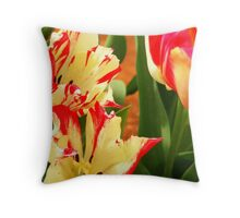 tulips striped Throw Pillow