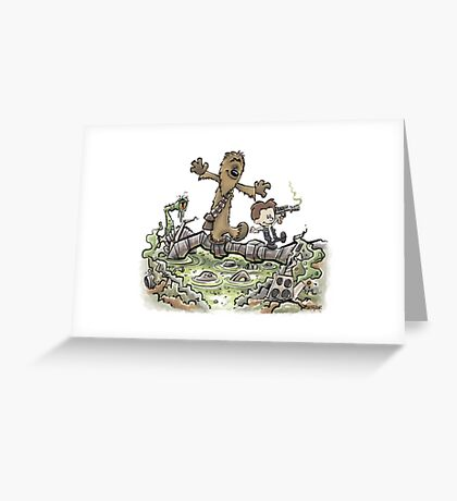Han & Furball Greeting Card