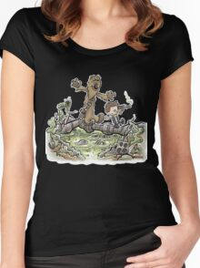Han & Furball Women's Fitted Scoop T-Shirt