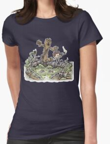 Han & Furball Womens Fitted T-Shirt