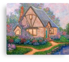 COTTAGE ORIGINAL OIL PAINTING Canvas Print