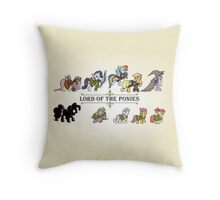 My little fellowship of the ring Throw Pillow