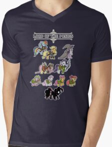 My little fellowship of the ring Mens V-Neck T-Shirt