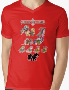 My little fellowship of the ring Mens V-Neck T-Shirt