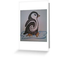Don't Touch the Penguin Greeting Card