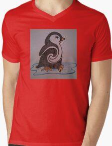 Don't Touch the Penguin Mens V-Neck T-Shirt