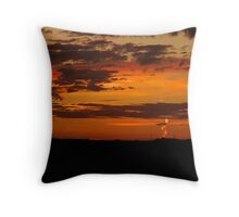 Contrails from the Sun Throw Pillow