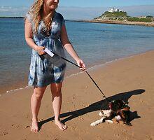 2 Ellie with her Australian Shepherd  by Cathie Brooker