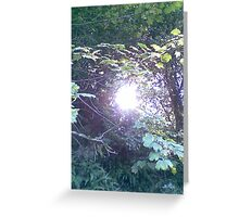 Tunnel of light Greeting Card